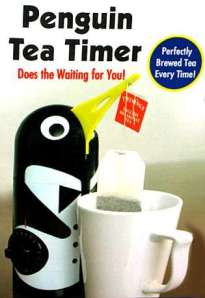 Alright..this is the one that got me - I really want this one! I would really use it too! See, you set the timer on the side for how long you want your tea to steep. The penguin lowers his beak (which lowers the tea in to the water) and once the time is up, he lifts his beak, and you have the perfect cup of tea - thanks penguin tea timer!